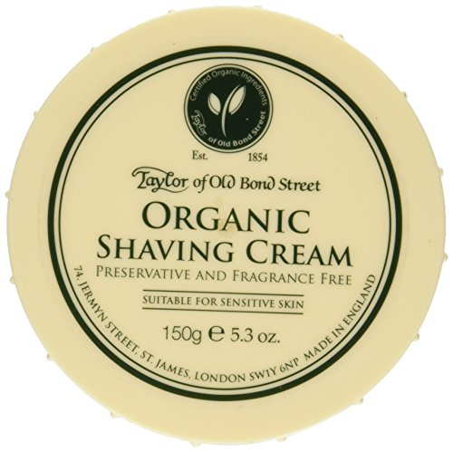 Taylor of Old Bond Street Organic Shaving Cream w/ Aloe & Jojoba *New*  5.3 oz.