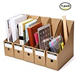 Caveen File Organizer Kraft Paper File Holder Office Supplies Magazine Holder Desk Storage Organizer(5 packs)