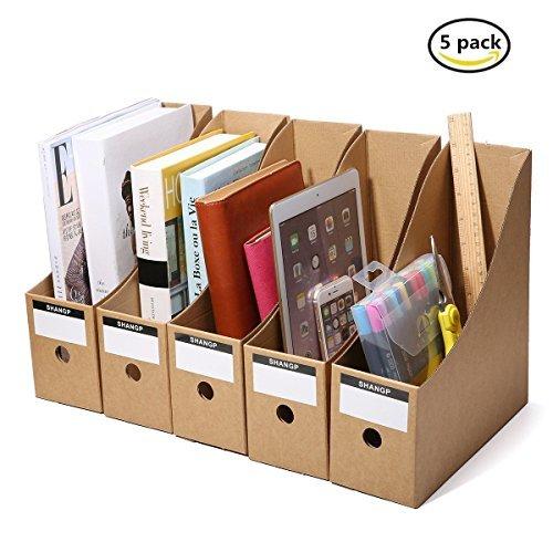 Caveen File Organizer Kraft Paper File Holder Office Supplies Magazine Holder Desk Storage Organizer(5 packs)