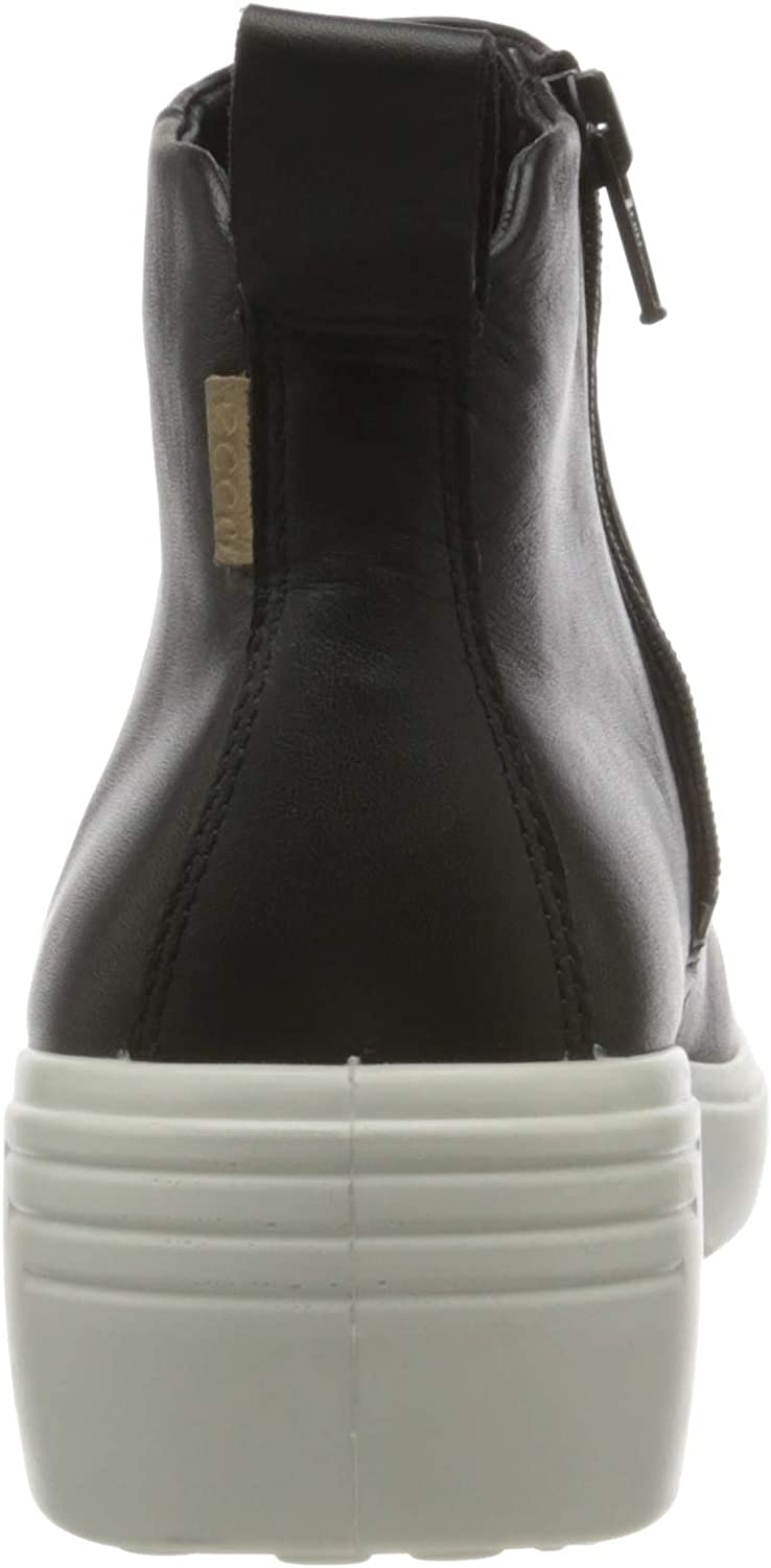 ECCO Soft7 Wedge W, Bottine Femme Noir