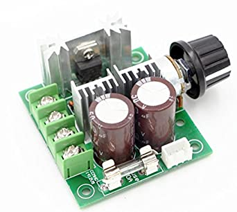 RioRand 12V-40V 10A PWM DC Motor Speed Controller with Knob-High  Efficiency, High Torque, Low Heat Generating with Reverse Polarity  Protection, High