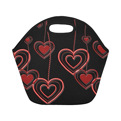 unch Bag Heart Love Mother's Day Romance Red Luck Large Size Reusable Thermal Thick Lunch Tote Bags For -lunch Boxes For Outdoors,work, Office, School ()