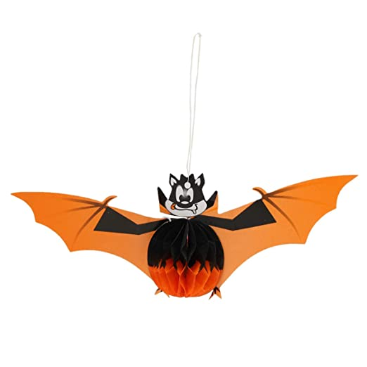 Solmore Halloween Spooky Night Witch Bat Tissue Hanging Paper Lantern Bars Party Decor 1