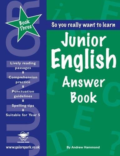 Junior English: Answer Book Book 3: Andrew Hammond: 9781902984858 ...