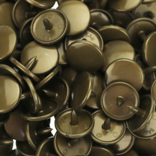 Mama Button - 100 Sets KAM Size 20 T5 Resin Plastic Snaps Buttons Fasteners Punch Poppers for Cloth Diaper/Bibs/Unpaper Towels/Nappies/Buttons/Mama Pads (B12 - Metallic Bronze)