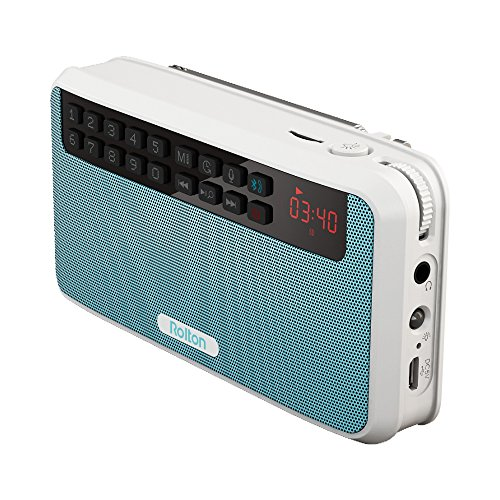 Rolton E500 Portable Stereo Bluetooth Speakers FM Radio Clear Bass Dual Track Speaker TF Card USB Music Player (Blue)