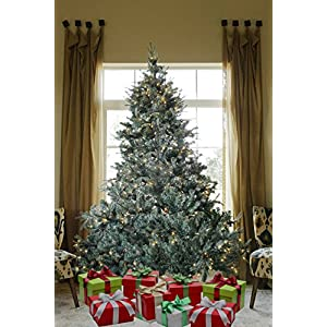 8 FT Prelit Premium Spruce Hinged Artificial Christmas Tree 1600 Realistic Branch Tips/Pines with 600 LED Lights and Stand 86