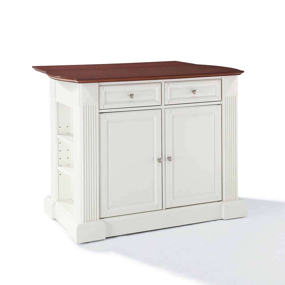 White Kitchen Island With Drop Leaf Part 27 Amazon Com Crosley Furniture