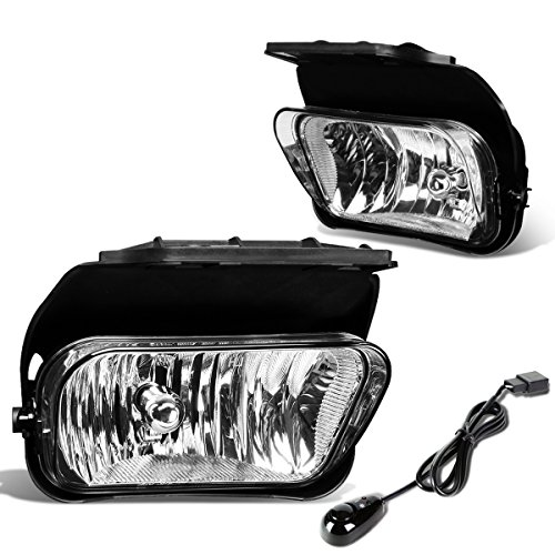 For Chevy Silverado Pair of Bumper Driving Fog Lights + Wiring Kit + Switch (Clear Lens)