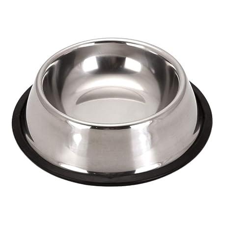 Cupcinu Cuenco para Mascotas de Acero Inoxidable Comedero para Perros y Gatos Cuenco de Agua Contenedor de Comida Base Antideslizante Size 15 * 12 * ...