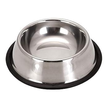 Scrox 1x Cuenco de Perro Gato Alimentos Bowl Acero ...