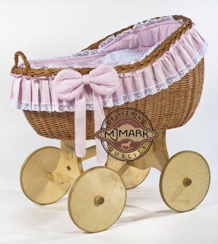 Stubenwagen Komplett Bollerwagen Stubenwagen Babykorb BIANCA ANTIQUE PINK