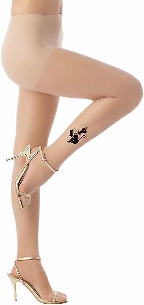 iB-iP Mujer tatuaje tobillo impresión perfecta del gato con estilo ...