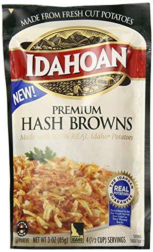 (Idahoan Premium Hash Browns with Real Idaho® Potatoes (2 Pack) 3 oz Bags )