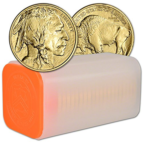 2018 American Gold Buffalo (1 oz) 1 Roll - TWENTY (20) Coins in Mint Tube Brilliant (Uncirculated Gold Buffalo)
