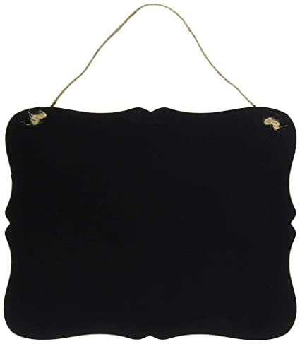 Uteruik Pizarra de Estilo Vintage, Color Negro, con Texto en ...