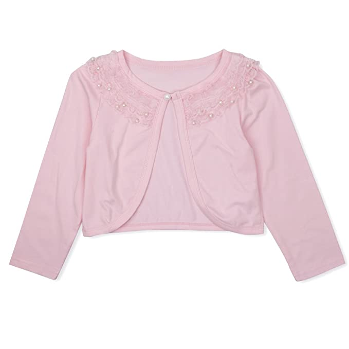 1737d7a70 Amazon.com  CHICTRY Little Girls  Long Sleeve Beaded Lace Bolero ...
