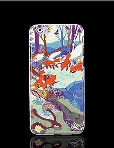 YULIN la cubierta del patrón de zorro para el iphone 6 casos