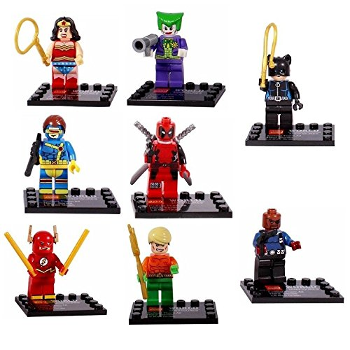NEW Joker Deadpool The Flash Lot of 8 Set Mini Action Figures Building Kids Toy Gift
