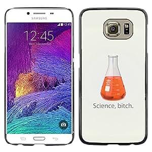 Caucho caso de Shell duro de la cubierta de accesorios de protección BY RAYDREAMMM - Samsung Galaxy S6 - Ciencia divertida perra