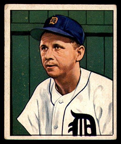 1950 Bowman #212 Jerry Priddy Tigers MLB Baseball Card G Good