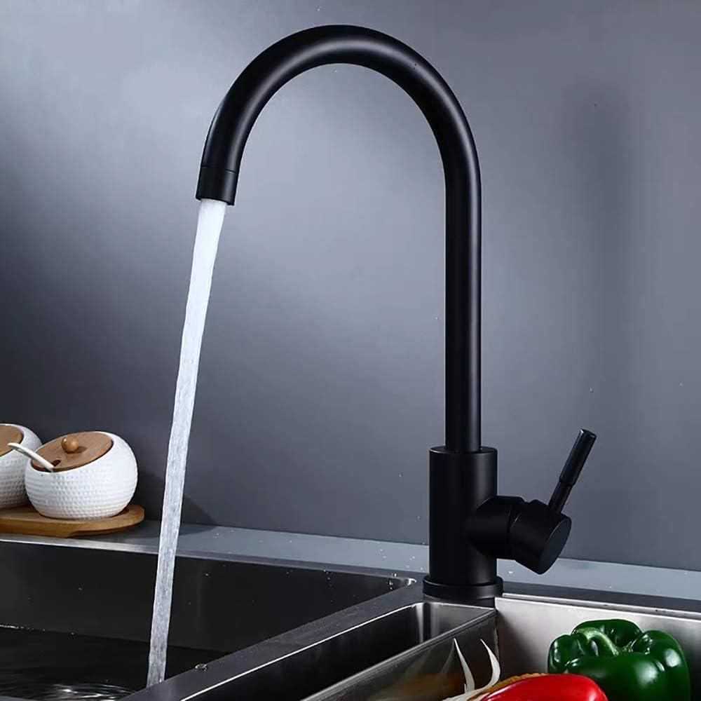 Ideko/® Robinet Mitigeur lavabo Noir avec 2 Flexibles
