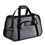 Cheap SENYEPETS Soft-Sided Pet Travel Carrier Mesh Windows Fleece Padding Small Dogs Cats (Grey)