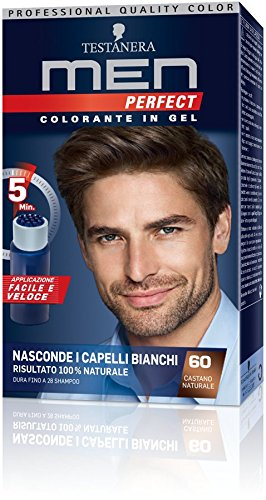 online shop popular brand cheaper Testanera - Men Perfect, Colorante in Gel, 60 Castano Naturale - 1  confezione