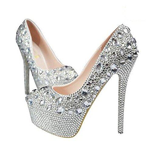 TOGIC Elegant Comfortable Womens Platform Pump High Heels,Bridal Shoes,Party Wedding Shoes For Women as picture6 B(M) US (Party Store Burlington Vt)