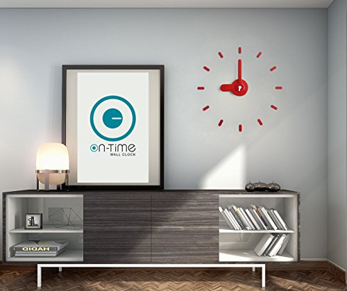 Contemporary Wall Clock, Kids, Office, Kitchen, Home, Japanese Design Award, DIY Stickers Installation On Flat Surfaces & Mirrors, Accurate & Silent Quartz Movement, Great Gift. Bee-On-Time(Red (College Station Halloween Events)