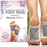 Crescena Footpads | Remove Impurities and Cleanse | Aids in Relieving Stress and Tension | Reduces Foot Odor | Pain Relief | All-Natural Lavender 'n Rose | Organic Foot Pads | 20 Piece Patch