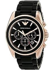 Emporio Armani Mens AR6066 Sport Black Silicone Watch
