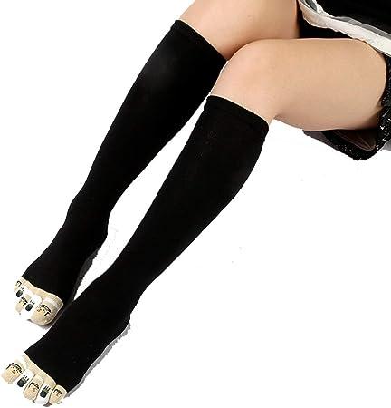 HYZ Mujer Cinco Dedos Calcetines Mujer Medias de algodón Completa del Dedo del pie Calcetines Altos Corea del Resorte Lindo Calcetines Antibacterial Desodorante Paquete (Color : Gray): Amazon.es: Hogar