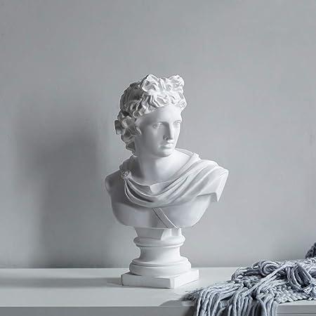 30 cm blanc Design Toscano Apollo Belv/éd/ère Statue de Buste r/ésine de marbre