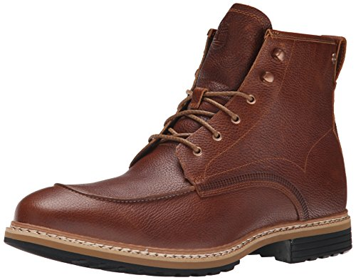 Rolled Moc - Timberland Men's West Haven Moc Toe 6 Inch Waterproof Boot, Dark Brown Fog, 9.5 M US