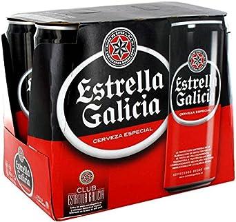 Estrella Galicia Cerveza Especial PACK 6 Latas 33cl: Amazon.es: Alimentación y bebidas