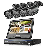 Security Camera System, SANNCE 4 Channel 1080N DVR Recorder and 4x720P HD-TVI Indoor/Outdoor IP66 Weatherproof Bullet Cameras with IR Night Vision LEDs Home CCTV Video Surveillance Kits, NO Hard Drive