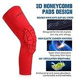 SHINYPRO Basketball Knee Pads:3D Honeycomb Shock