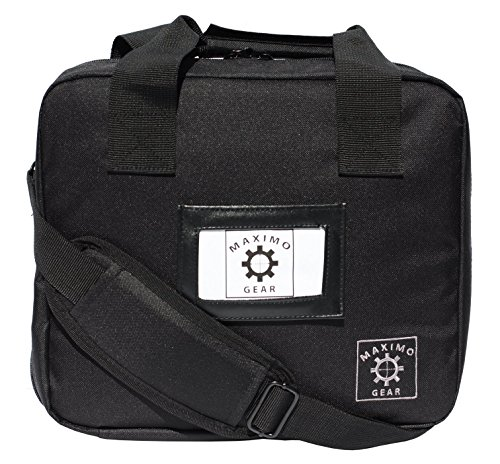 Genesis Modular Discreet Pistol Bag with Pistol Holder Magazine Pouches and Shoulder Strap (Stealth Black)