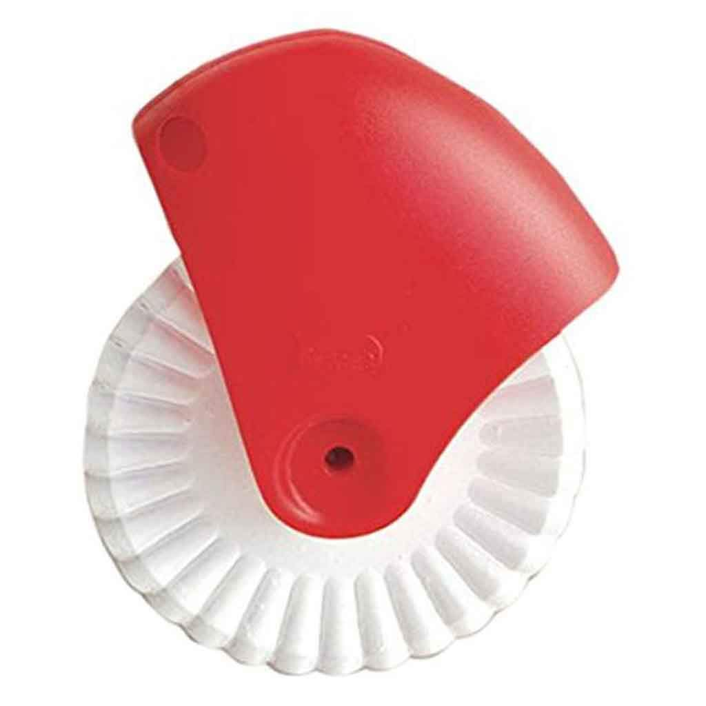1Pc Pastry Wheel Decorator & Pastry Wheel Cutter Manual Plastic And Silicone Pizza Wheel Cutter Pie Crust Edge Crimper (B)