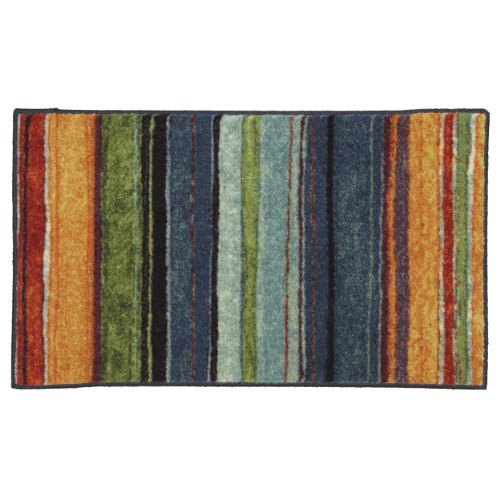 Mohawk Home New Wave Rainbow Printed Rug, 1'8x2'10, Multi (Throw Washable Rugs)