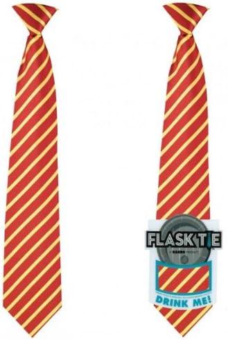 Corbata con petaca en rojo/oro - flask tie: Amazon.es: Hogar