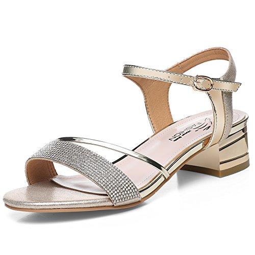 soirée Talons de HUAIHAIZ 5cm rétro haut Les à Escarpins chaussures chaussures femme hauts 4 Gold chaussures talon sandales qWcUOEW6HB