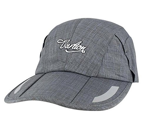 SmartD 100% Polyester Grey Unisex in Style Folding Design Dad Hat/Baseball Hat/Sun Hat/with Adjustable Velcro Back Closure/Perfect for Outdoor Activities. Adjustable Velcro Back Closure