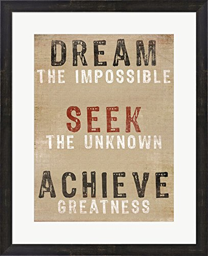 Dream The Impossible by Bohemia Studios Framed Art Print Wall Picture, Espresso Brown Frame, 22 x 27 (Bohemia Walnut)