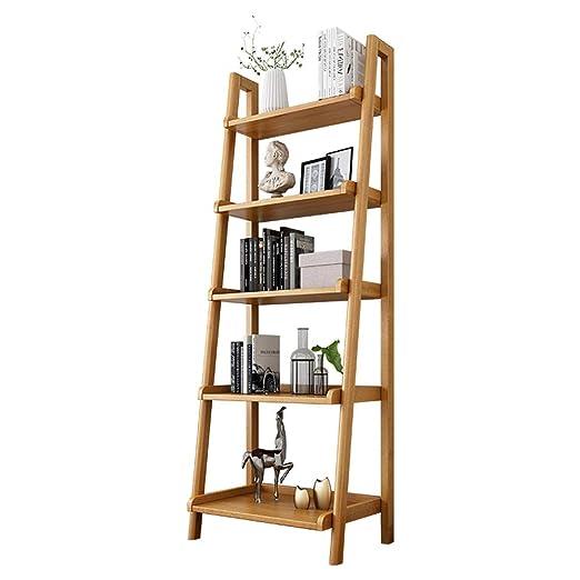Caishuirong Estantería For Estantes Escalera apoyable Bookcase ...