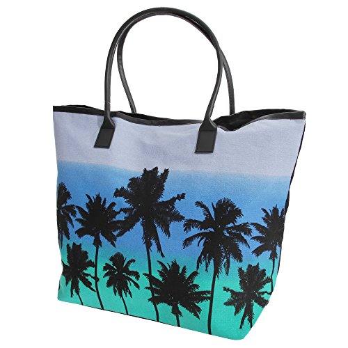 Hawaiian FLOSO Tree Teal Ladies Print Palm Womens Pink Summer Handbag EwqRSwUxr
