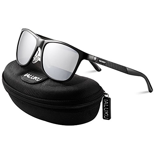 IALUKU Retro Driving Wayfarer Polarized Sunglasses for Men