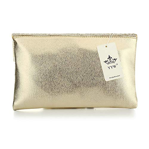 Purse Clutch Leather for Envelope Evening Party Handbag Genuine Gold Women Bags 5SwOOq