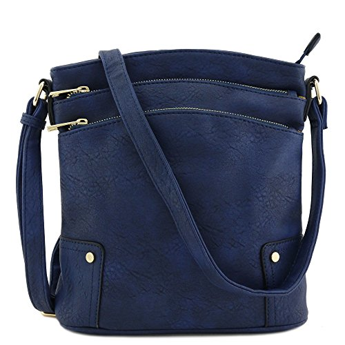 Navy Leather Handbag - 6